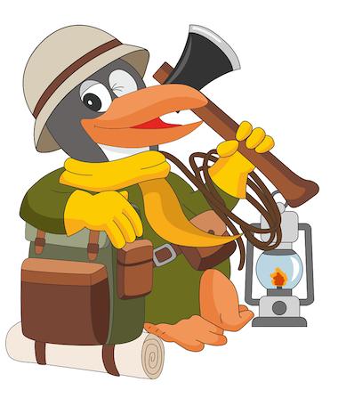 Outdoor Abenteuer Pinguin - Logo